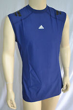 Adidas Techfit Powerweb Sleeveless Navy Vest (W64207) Base Layer  UK S, L,XL,XXL