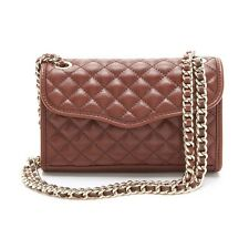 NWT REBECCA MINKOFF MINI AFFAIR QUILTED IN MAHOGANY/GOLD