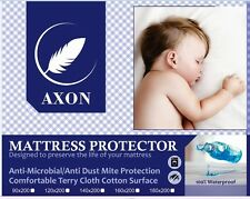 Fully Fitted Waterproof Mattress Protector - 200gsm Terry Cloth Cotton FREE POST