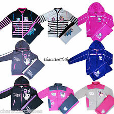 New Girls MONSTER HIGH / HELLO KITTY Tracksuits Jogging Set Suit Outfit Age 2-12
