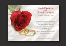 PERSONALISED WEDDING DAY AND EVENING INVITATIONS INC ENVELOPES & P&P