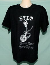 RARE OOP AOA SYLO FREE OUTLAWS MC Med B&W T-SHIRT TRUE BROTHERHOOD INSIDE & OUT