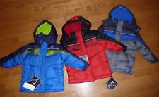 NWT Tod Boys Vertical '9 Puffer Jacket Winter Coat Hood Size 12/18 18/24 Mo 2T