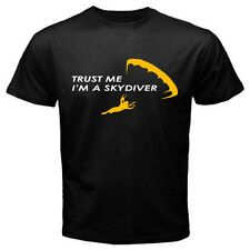 Trust Me I'm A Skydiver Parachuting Skydiving T-Shirt Mens Black / Navy Blue