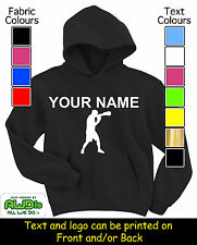 PERSONALISED CHILD'S BOXING BOXER HOODY / HOODIE'S - GREAT KIDS GIFT & NAMED TOO