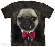 Th Mountain Ladies T-Shirt Animal Face Tie Dye Vampire Pug New Dog Puppy Tee Top