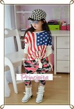 GIRLS Korean Style Great Quality Skull Patch Streching Camouflage Harem Pants