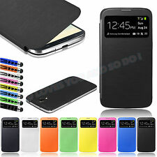 New Flip S-VIEW Smart Case Battery Cover For Samsung Galaxy MEGA 6.3 I9200