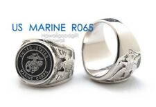 Men Jewelry US Military Stainless Steel Band Rings NAVY MARINE ARMY AIR FORCE