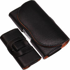Universal PU-Leather Pouch Belt Clip+Loop Hip Case for Mobile Phone Case/Cover