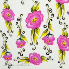 Rose flower water transfer nail stickers decals for nail art decoration Supplies
