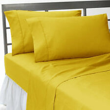 BRANDED 1000TC YELLOW BEDDING SET SOFT 100% EGYPTIAN COTTON CHOOSE  SIZE & ITEM