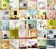 Wholesale Butterfly Owl Animal Tree Flowers Wall Decals Quote Sticker PVC Decor