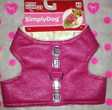 Simply Dog Body Harness Pink Sparkle Diamond Soft Super Cute Xs M Yorkie Poodle
