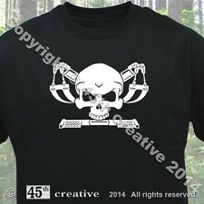 Tow Truck Crossbones T-shirt - winch truck driver towing recovery skull t shirt