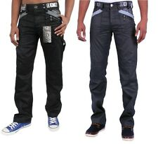 MENS JEANS BRAND NEW ENZO STRAIGHT LEG BLACK AND GREY COATED CHEAP SPECIAL PRICE