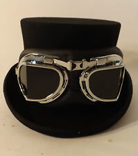 Top Hat  New With Goggles Steam Punk Victorian Style Wool Felt Black Hat
