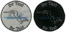 swimming patch with your text 8cm embroidered logo (251-1)