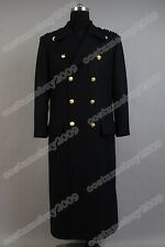 Torchwood Doctor Captain Jack Harkness Jacket Wool Coat Costume Dark Blue Ver.