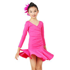 Childrens Latin Salsa Ballroom Dance Dress Girls Dancewear costumes #FY050
