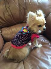 Hot Pink Leopard Small Dog Tshirt Clothes Clothing Jumper XXS XS S Chihuahua toy