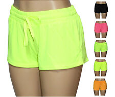 Women's Athletic or Lounge Layered Mesh Jersey Shorts - Sports Running Track