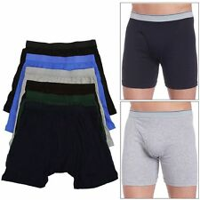 6 Pairs of Men's Essential Elastic Microfiber 100% Cotton Boxer Briefs Underwear