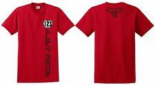 RED JUST RIDE CUSTOM NUMBER PLATE YOUTH T SHIRT CHILD MX MOTOCROSS CR CRF HONDA