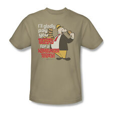 Popeye Cartoon Wimpy Gladly Pay You Tuesday A Hamburger Youth Men T-shirt Top
