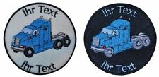 truck trucker patch with your text 8cm embroidered logo (506-1)
