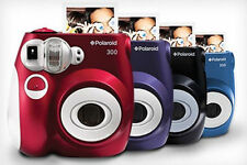 Polaroid PIC-300 Instant Film Analog Camera - (Color's Black, Blue, Red, Purple)
