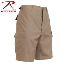 KHAKI Military BDU Combat Cargo Shorts 100% Cotton Rip Stop 7077