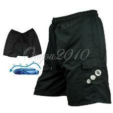 Black MTB Bike Bicycle Cycling Wear Shorts Leisure Pants 3D Padded M-XXXL M-3XL