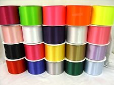 QUALITY SATIN SASH RIBBON 4in 100mm WIDE CHOICE OF 18 BEAUTIFUL COLOURS - NEW