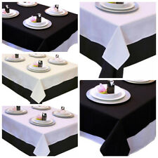 "54"" x 54"" Square Polyester Wedding Tablecloth Linens High Quality - 3 colors"