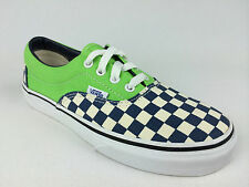 VANS. Kids ERA 2 Tone CHECKER Canvas Shoes. GREEN. US Kids10.5 thru 13 & 1 - 3.