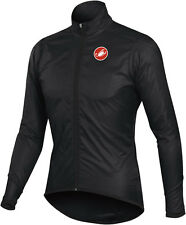 SHIPS IN 24 HRS! 2014 GENUINE CASTELLI Squadra Long Jacket Wind Water Mens Black