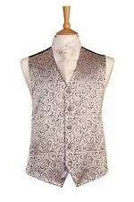MENS AND PAGE BOYS IMPERIAL SILVER AND LILAC SWIRL WEDDING DRESS SUIT WAISTCOAT