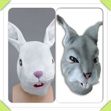 RUBBER RABBIT HEAD MASK PANTO FANCY DRESS PARTY COSPLAY HALLOWEEN ADULT COSTUME