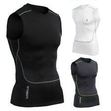 Mens Compression Wear Vest Base Layer Skin Tight Running Gym