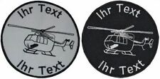 helicopter BK117 patch with your text 8cm embroidered logo (588-1)