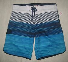 NWT ECKO UNLTD MEN SMOOTH BOARD SWIM SHORTS CHOOSE SIZE AQUA BLUE