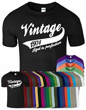 Mens Vintage 1974 40th Birthday Funny Gift Top-T Shirt All Sizes L M S XL XXL