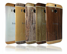 Textured Wood Skin Sticker For HTC ONE M8 cover decal wrap accessory case