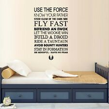 Use the Force ~ Star Wars  ~ Wall or Window Decal
