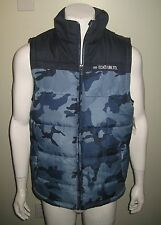 NWT ECKO UNLTD CHURCHHILL MEN PUFFER VEST SLEEVLES JACKET CHOOSE SIZE CAMO BLUE