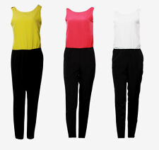 COLLECTION LONDON Womens Ladies YELLOW RED WHITE Party Jumpsuit Sizes 8 - 18
