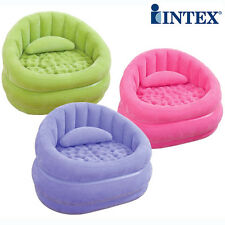 Intex Inflatable Flocked Air Sofa Lounge Chair Couch Outdoor Cafe Seat 68563 New