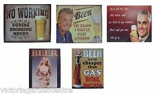 retro vintage metal beer signs for pub/home bar colectable 300mm x 240mm free pp
