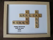 Personalised Scrabble Art Frame Birthday Anniversary Gift Parents Friends Family
